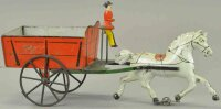 Hull & Stafford Tin-Carriages Large early American dump...