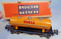 Lionel Railway-Freight Wagons Shell tank car with eight...