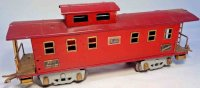 American Flyer Railway-Freight Wagons Caboose with eight...