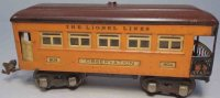 Lionel Railway-Passenger Cars Metal observation car with...