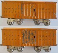 Lionel Railway-Freight Wagons Boxcar painted in orange, 4...