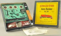 Structo Tin-Kit-Cars Boxed auto builder No. 10, pressed...