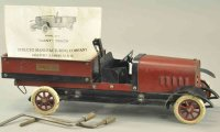 Structo Tin-Kit-Cars Dump truck No. 23C, clockwork...