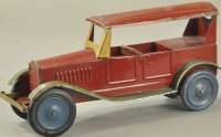 Dayton Tin-Oldtimer Sedan red body and roof with green...