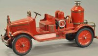 Buddy L Tin-Fire-Truck Fire pumper engine, pressed steel...
