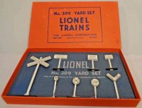 Lionel Railway-Signals Yard sign set No. 309, with box,...