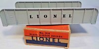 Lionel Railway-Bridges Girder plate No. 314, train bridge...