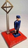 Lionel Railway-Signals Operating watchman No. 1045, red...