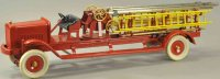 Kingsbury toys Tin-Fire-Truck Ladder truck, pressed...