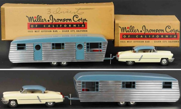 Smith-Miller Tin-Cars Trailer set, appears in unplayed with condition, trailer com