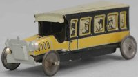 Levy George (Gely) Tin-Penny Toy Coach in bus in yellow...