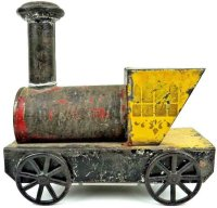 Merriam Railway-Floor Train Tin locomotive as floor...
