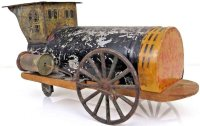 Brown George Railway-Floor Train Large wind-up locomotive...