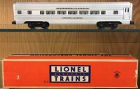Lionel Railway-Passenger Cars Silver Cloud pullman car...