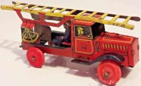 Fischer Georg Tin-Fire-Truck Tin aerial ladder truck No....