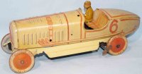 Tippco Tin-Race-Cars Tin racing car, lithographed in...