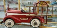 Garton Toy Co Tin-pedal cars Fire dept. Chief truck pedal...