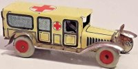 Unknown Tin-Penny Toy Ambulance car, wind-up toy