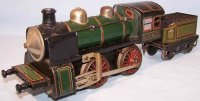 Bub Railway-Locomotives Clockwork locomotive with tender,...