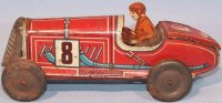 Memo Gutmann Tin-Race-Cars Race car No. 708 without...