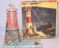 Keim Tin-Toys Lighthouse to send Morse codes No. 985 with...