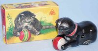 Koehler Tin-Animals Rollover advertising cat Zell-Mosel...