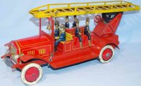 Distler Tin-Fire-Truck Fire ladder truck, large version...
