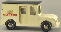 Buddy L Wood Vehicles Milk truck, all wood panel delivery...