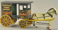 Rich Toys Inc. Wood-Carriages Wooden Sheffield Farm milk...
