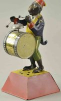 Guenthermann Tin-Figures Tin monkey drummer, hand painted...