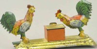 Unknown Tin-Penny Toy Two pecking chickens, made in...