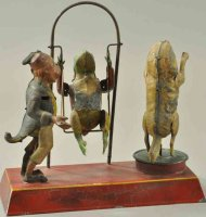 Guenthermann Tin-Figures Whimsical animals as swing toy,...