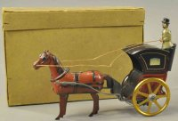 Ebo Tin-Carriages Boxed hansome cab, made in Germany,...