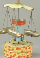 Unknown Tin-Carousels Triple zeppelin go-round, made in...