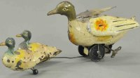 Guenthermann Tin-Animals Swimming duck family, hand...