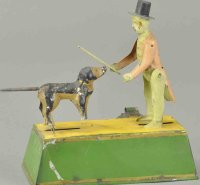 Guenthermann Tin-Figures Dog trainer, wonderful early...