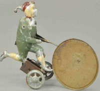 Unknown Tin-Figures Running boy on wheels, depicts child...