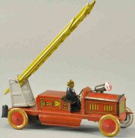 Tippco Tin-Fire-Truck Fire ladder truck, done in tin...