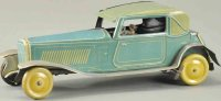 Mettoy Tin-Oldtimer Wind-up coupe, lithographed tin auto...