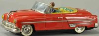 Ichiko Tin-Cars Ford two door convertible, friction...