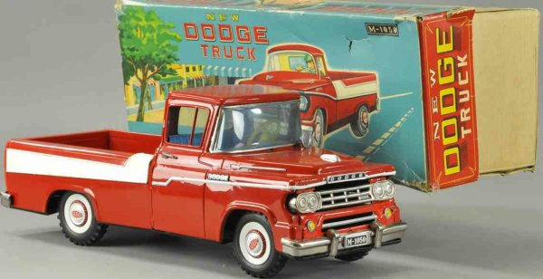 Mitsuhashi Tin-Trucks Boxed Dodge pickup truck, friction driven with long bed, den