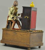 Unknown Tin-Automata Monkey at piano, well designed...