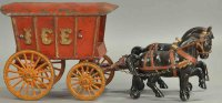 Jones & Bixler Cast-Iron-Carriages Horse drawn ice wagon,...