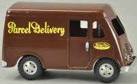Tonka Toys Tin-Trucks Parcel delivery van, pained in dark...