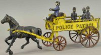 Wilkins Cast-Iron-Carriages Horse drawn police patrol...