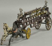 Wilkins Cast-Iron-Carriages Horse drawn fire ladder...