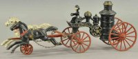 Harris Toy Co Cast-Iron-Carriages Horse drawn fire...