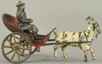 Harris Toy Co Cast-Iron-Carriages Goat drawn shell cart,...