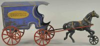 Wilkins Cast-Iron-Carriages Horse drawn grocery wagon,...