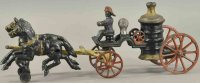 Hubley Cast-Iron-Carriages Horse drawn fire pumper, cast...